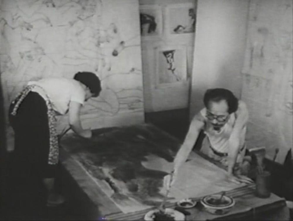 原爆の図 制作風景